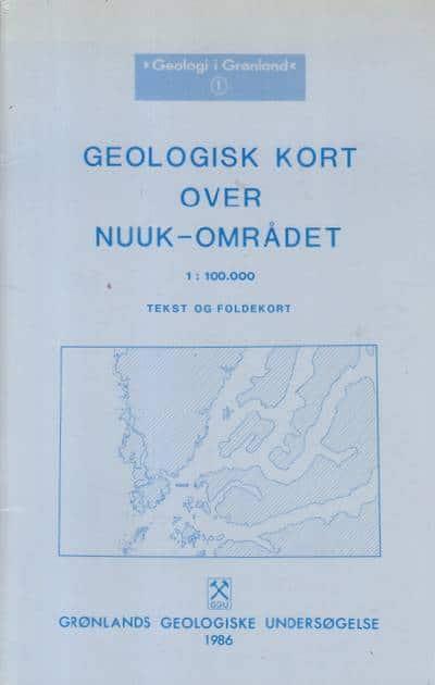 Fa Geologisk Kort Over Nuuk Omradet 1 100 000 Tekst Og Foldekort