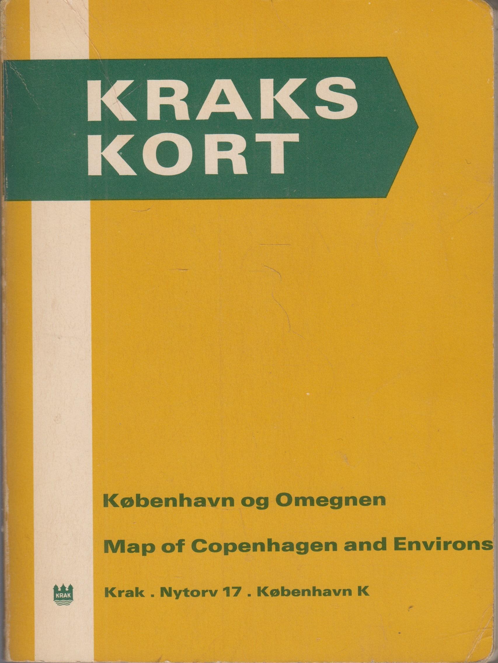Få Kraks kort - København og Omegnen/Map of Copenhagen and