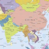 Asien, Kina og Japan
